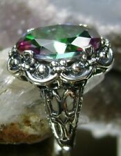 15ct Oval Cut *Mystic Topaz* Solid Sterling Silver Filigree Ring {Made To Order}