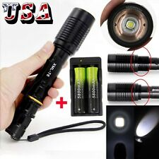 Zoomable 20000LM CREE XML T6 LED 5Mode Tactical Flashlight+Charger+18650BTY (