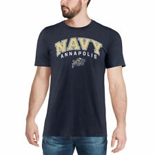 Colosseum Navy Midshipmen Heathered Navy Distressed Arch Over Logo T-Shirt