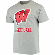 Champion Wisconsin Badgers Gray Basketball Drop T-Shirt - College