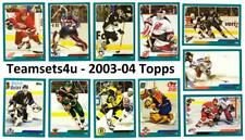 2003-04 Topps Hockey Set ** Pick Your Team ** Checklist in Description **