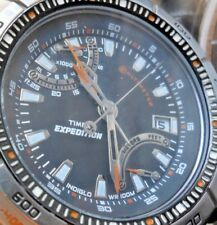 Clean HUGE!! 51 mm S/S Men's Timex Expedition Altimeter WR 100M Quartz Watch