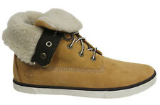 Timberland Roll Top Juniors Kids Wheat Leather Warm Lined Boots 8792R D4