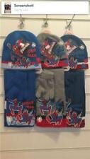 Boys winter Knitted Hat scarf and gloves set 4-8  years Marvel Spiderman