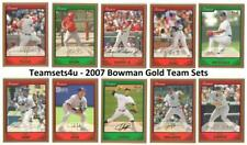2007 Bowman Gold Baseball Set ** Pick Your Team **