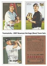 2007 Bowman Heritage (Base) Baseball Set ** Pick Your Team **