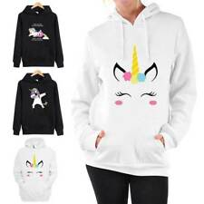 UK Womens Hoodies Unicorn Horse Sweater Jumper Pullover Lady Casual Blouse Tops