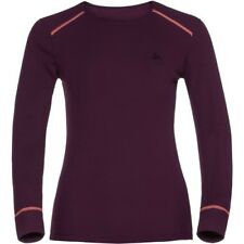 Odlo Warm Ls Womens Base Layer Top - Pickled Beet All Sizes