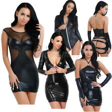 Womens Sexy Lingerie Bodycon Wetlook Clubwear Party Mini Dress Bodysuit Catsuit