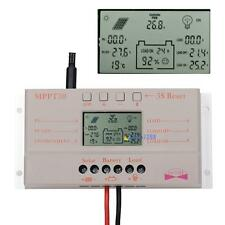 10A 20A 30A LCD MPPT Solar Panel Battery Regulator Charge Controller 12V/24V MT