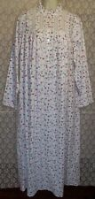 NEW S Small EILEEN WEST NIGHTGOWN LONG FEATHER/BABY FLANNEL White Pink Lilac