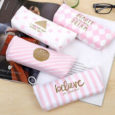 Girl Pink Pencil Case Pen Pouch Box School Stationery Cosmetic Makeup Zipper Bag
