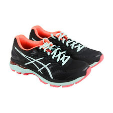 Asics GT 2000 5 Womens Black Mesh Athletic Lace Up Running Shoes