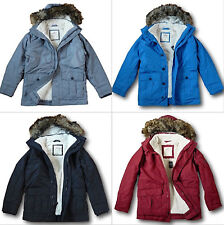NWT Hollister-Abercrombie&Fitch Mens The Coastal Trail Parka Sherpa-Lined Jacket