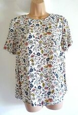 NEW M&S Cream Floral Print Shell Tunic Top 16