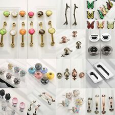 Modern Furniture Wardrobe Drawer Cabinet Door Pull Handles Knobs Zinc Alloy