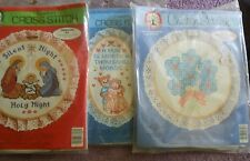 CHOOSE ONE:WONDERART/COLORTEX STAMPED/COUNTED CROSS STITCH/EMBROIDERY KITS HOOPS