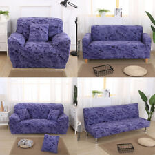 1/2/3 Seater Comfortable Stretch Elastic Sofa Couch Slip Cover Sapphire Blue