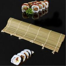 Bamboo Sushi Mat Onigiri Rice Roller Rolling Maker Tool Supply Kitchen Home LG