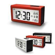 Digital Backlight Large LCD Display Snooze Alarm Clock Thermometer Time Date