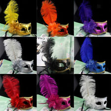 Venetian Party Mask Feather Lace Masquerade Ball Carnival Fancy Dress 9 Colors