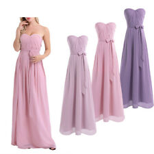 Women's Dress Pleated Chiffon Party Formal Bridesmaid Prom Ball Gowns Long Dress