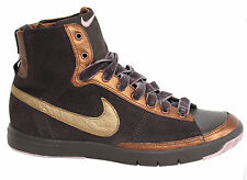 Nike Blazer Mid Lace Up Dark Brown Bronze Gold mid Trainers 313722 272 WH