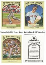 2011 Topps Gypsy Queen (Base 1-300) Baseball Set ** Pick Your Team **