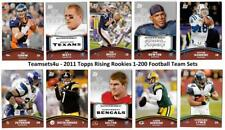 2011 Topps Rising Rookies (1-200) Football Set ** Pick Your Team **