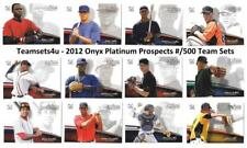 2012 Onyx Platinum Prospects #ed/500 Baseball Set ** Pick Your Team **