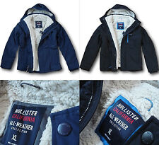 NWT Hollister by Abercrombie&Fitch Men's All-Weather Sherpa Fur Lined Jacket