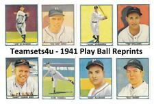1941 Play Ball Reprints Baseball Set ** Pick Your Team **