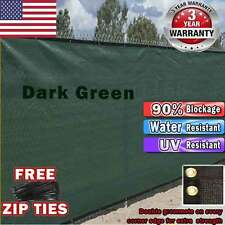 Dark Green 4' 5' 6' 8' Tall 50' Fence Windscreen Privacy Screen Shade Cover Mesh