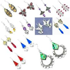 Dangle Earrings - 925 sterling silver natural gemstone jewelry 5915B