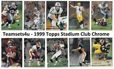 1999 Topps Stadium Club Chrome Football Set ** Pick Your Team **