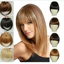 Real Thick Straight Bang Clip in on Fringe Hair Extensions Humans Hairpiece Hot
