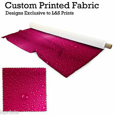 WATERDROPS PINK DESIGN PRINTED FABRIC LYCRA JERSEY SPANDEX FROM PER METRE