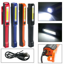 3W USB Rechargeable COB LED Work Light Magnetic Emergency Flashlight Torch Lamp