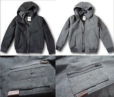NWT Hollister by Abercrombie&Fitch Men's Hooded Wool-Blend Bomber Jacket Coat