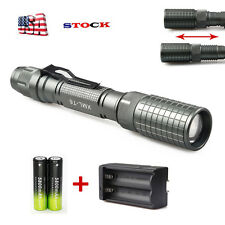 12000LM XML-T6 Zoomable LED Flashlight Torch Brightness Light 18650*Charger USA