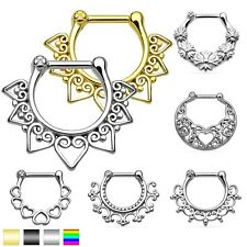 Nose Piercing Nasal Septum Clicker Ring Helix Cartilage Jewelry Ear Piercing