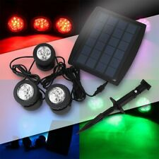 RGB White Solar Powered LED Outdoor Spot Light Garden Landscape Yard Lawn Lamp