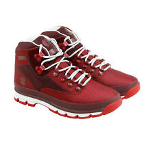 Timberland Euro Hiker Jacquard Mens Red Synthetic Hiking Boots Shoes