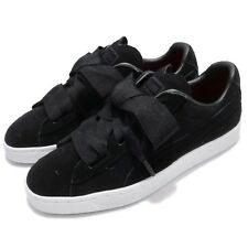 Puma Suede Heart Valentine JR Black White Kids Junior Youth Shoes 365135-02