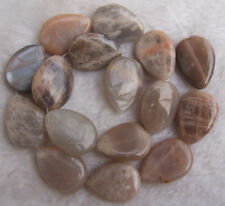 """13x18mm 18x25mm 22x30mm Natural Sunstone Pear Shape Loose Beads 15.5"""""""