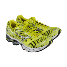 Mizuno Wave Creation 13 Womens Yellow Mesh Athletic Lace Up Running Shoes