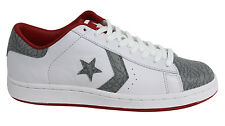 Converse Pro Leather Ox Varsity Lace Up Mens White Grey Trainers 1Y698/AY698 WH