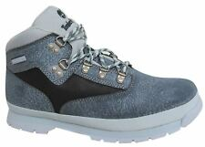 Timberland Euro Hiker Lace Up Blue Leather Junior Boots A19YX U39