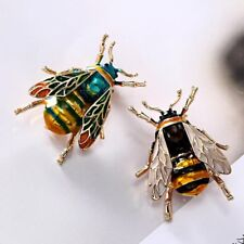 Fashion Bee Insect Gold Plated Crystal Brooch Pin Women Party Prom Jewelry Gift
