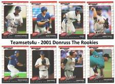 2001 Donruss The Rookies Baseball Set ** Pick Your Team **